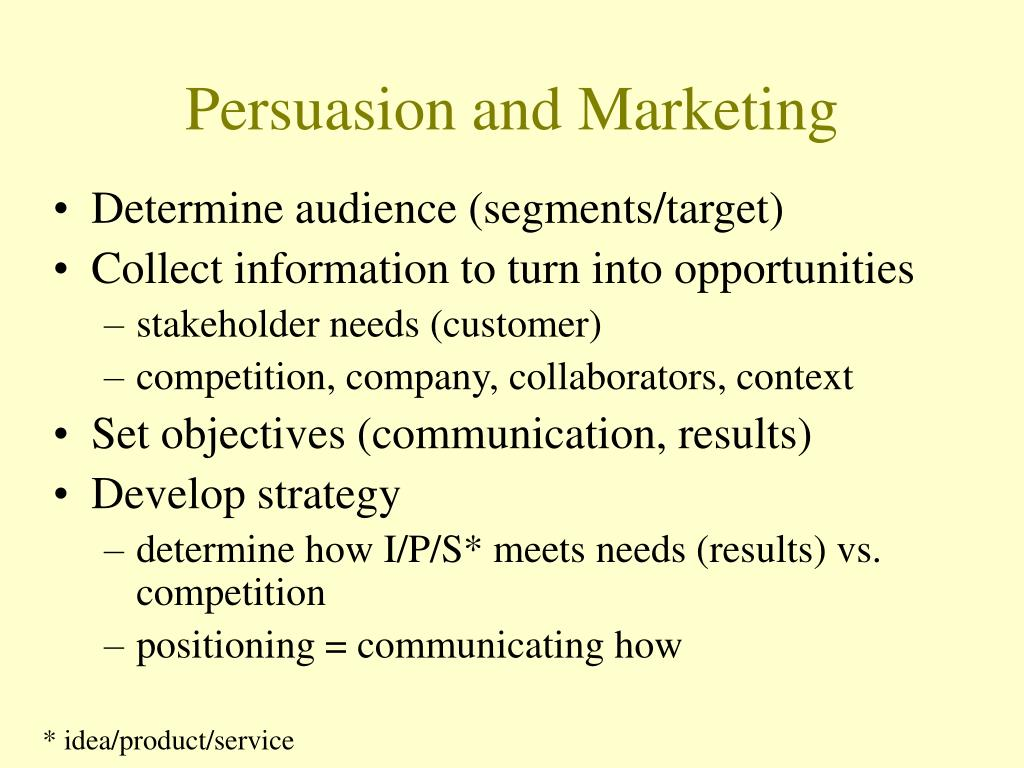 Persuasion and Marketing