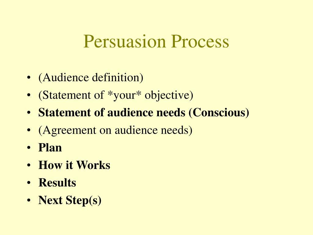 Persuasion Process