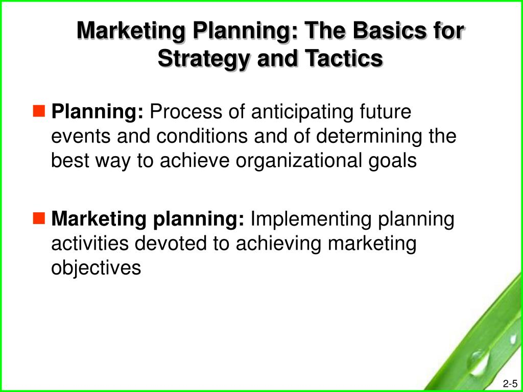 Marketing Planning: The Basics for Strategy and Tactics