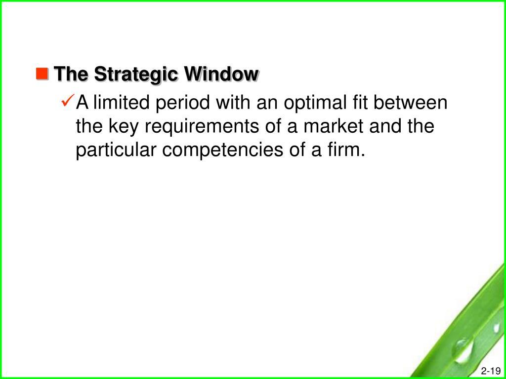 The Strategic Window