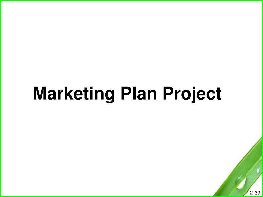 Marketing Plan Project