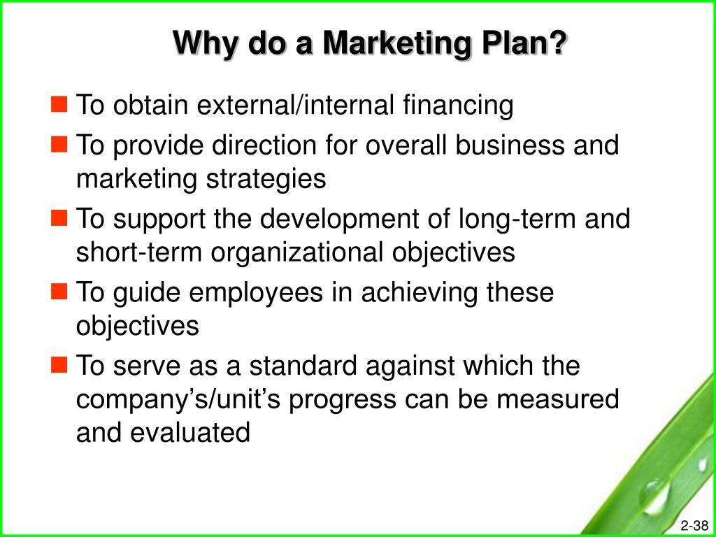 Why do a Marketing Plan?
