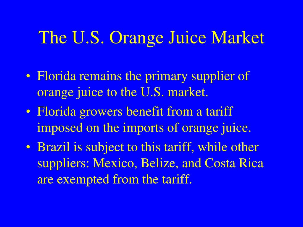 The U.S. Orange Juice Market