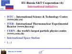 eu russia s t cooperation 4 international initiatives