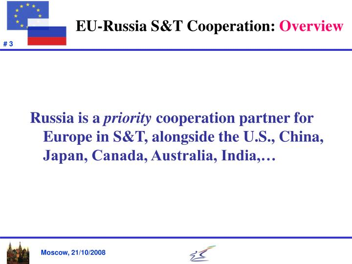 Eu russia s t cooperation overview