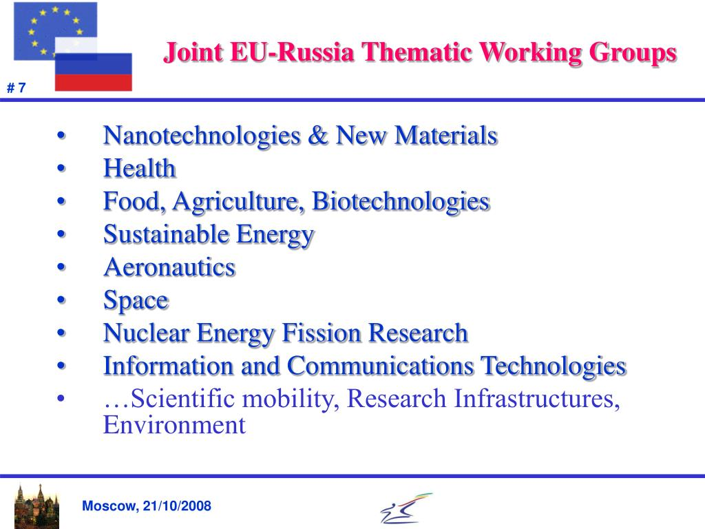 Joint EU-Russia Thematic Working Groups