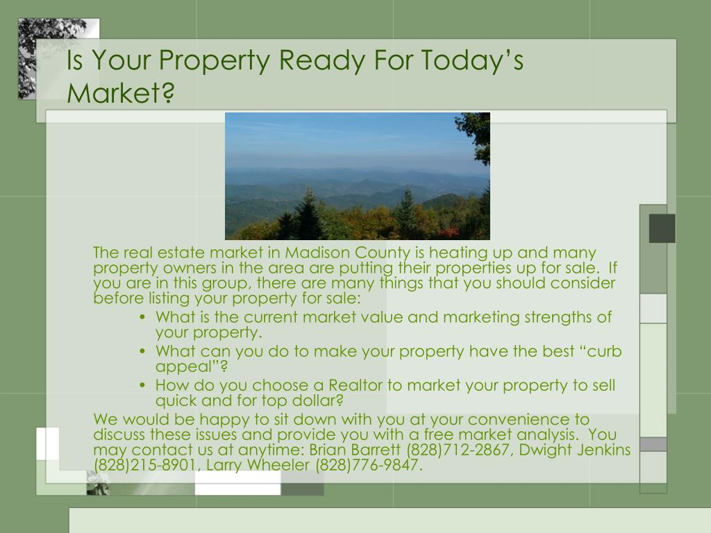 Is Your Property Ready For Today's Market?