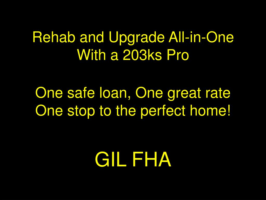 Rehab and Upgrade All-in-One