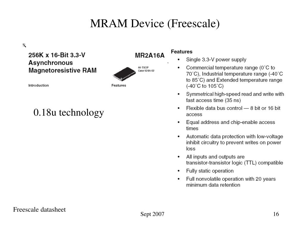 MRAM Device (Freescale)