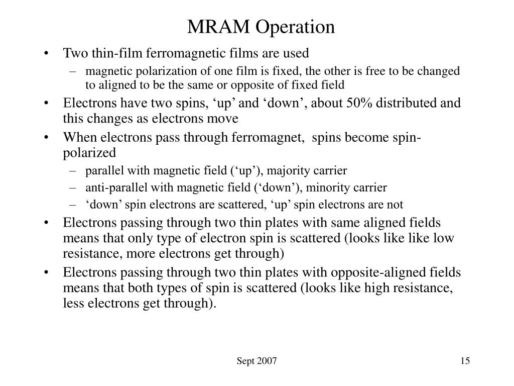 MRAM Operation