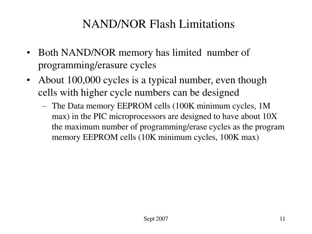 NAND/NOR Flash Limitations