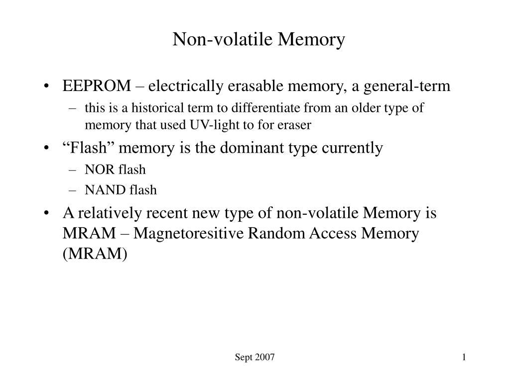non volatile memory