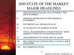 2009 state of the market major headlines22