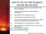 2009 state of the market major headlines29