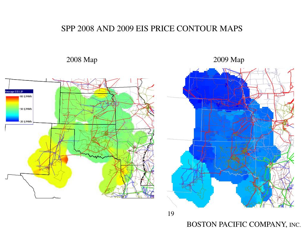 SPP 2008 AND 2009 EIS PRICE CONTOUR MAPS