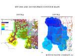 spp 2008 and 2009 eis price contour maps