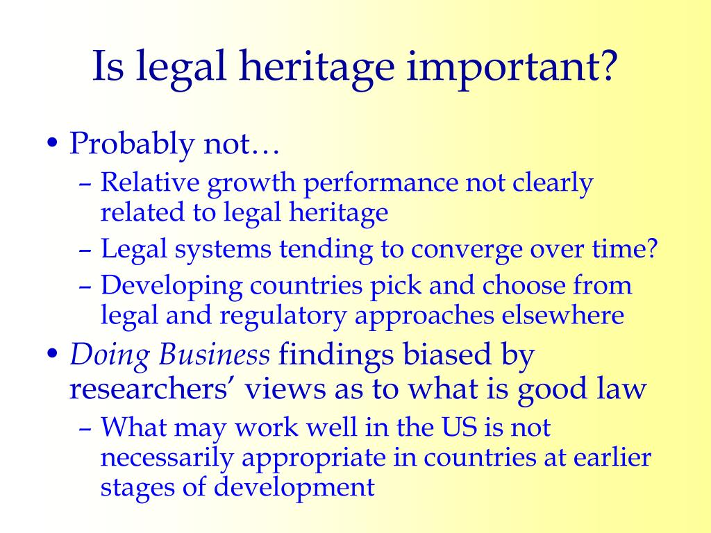 Is legal heritage important?