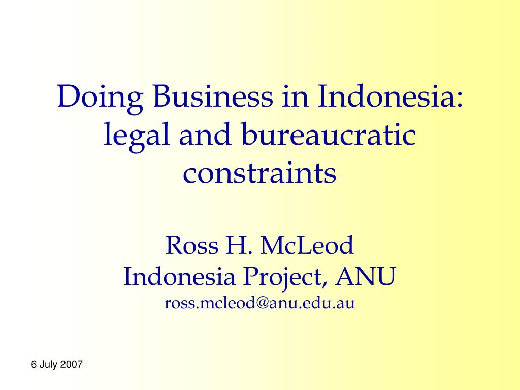 Doing Business in Indonesia: