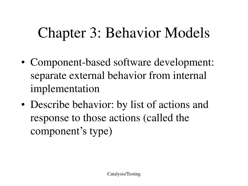 Chapter 3: Behavior Models