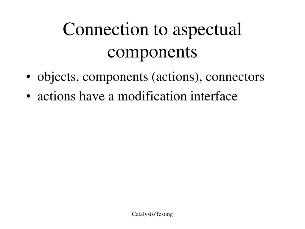 Connection to aspectual components