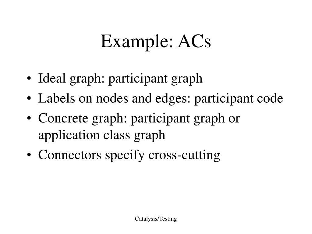 Example: ACs