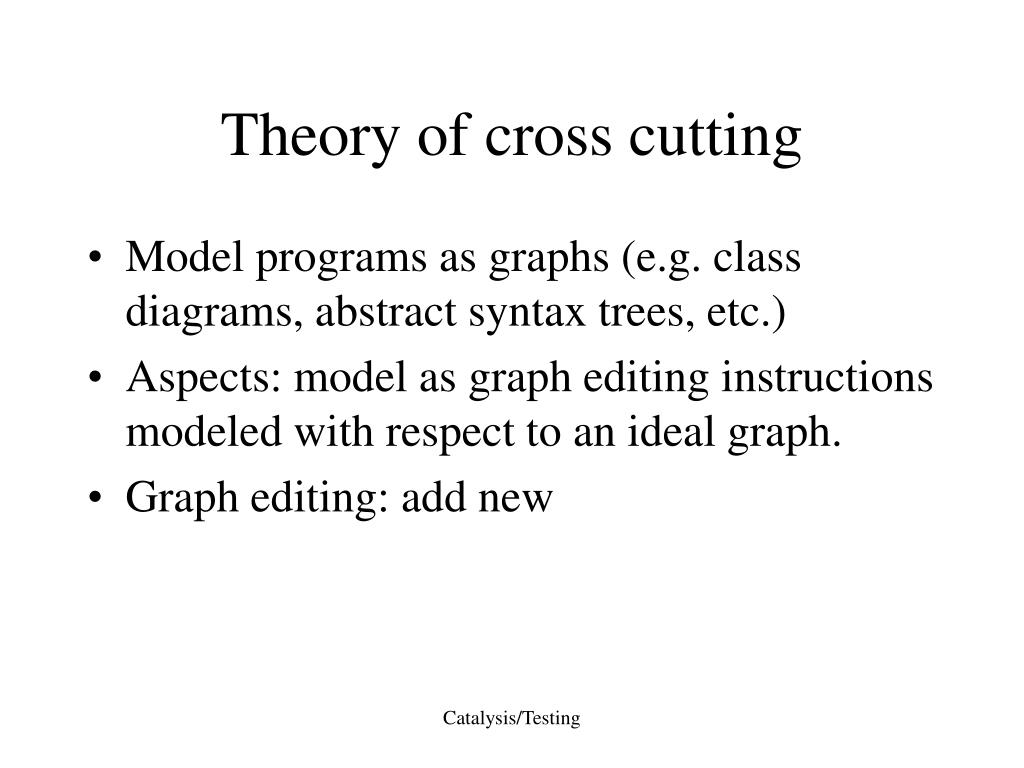 Theory of cross cutting
