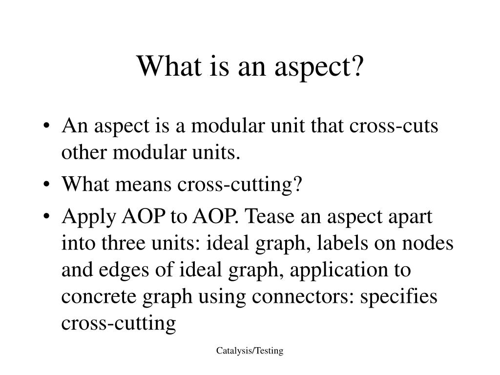What is an aspect?