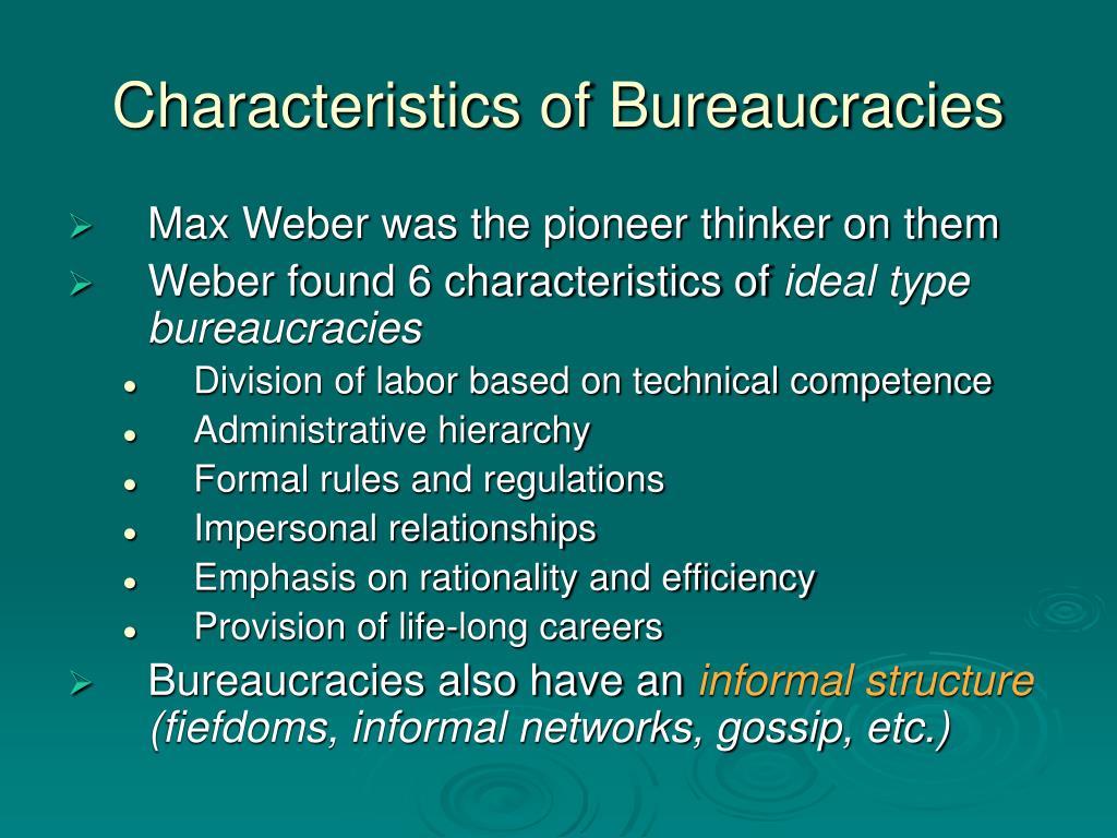 ideal type bureacracy