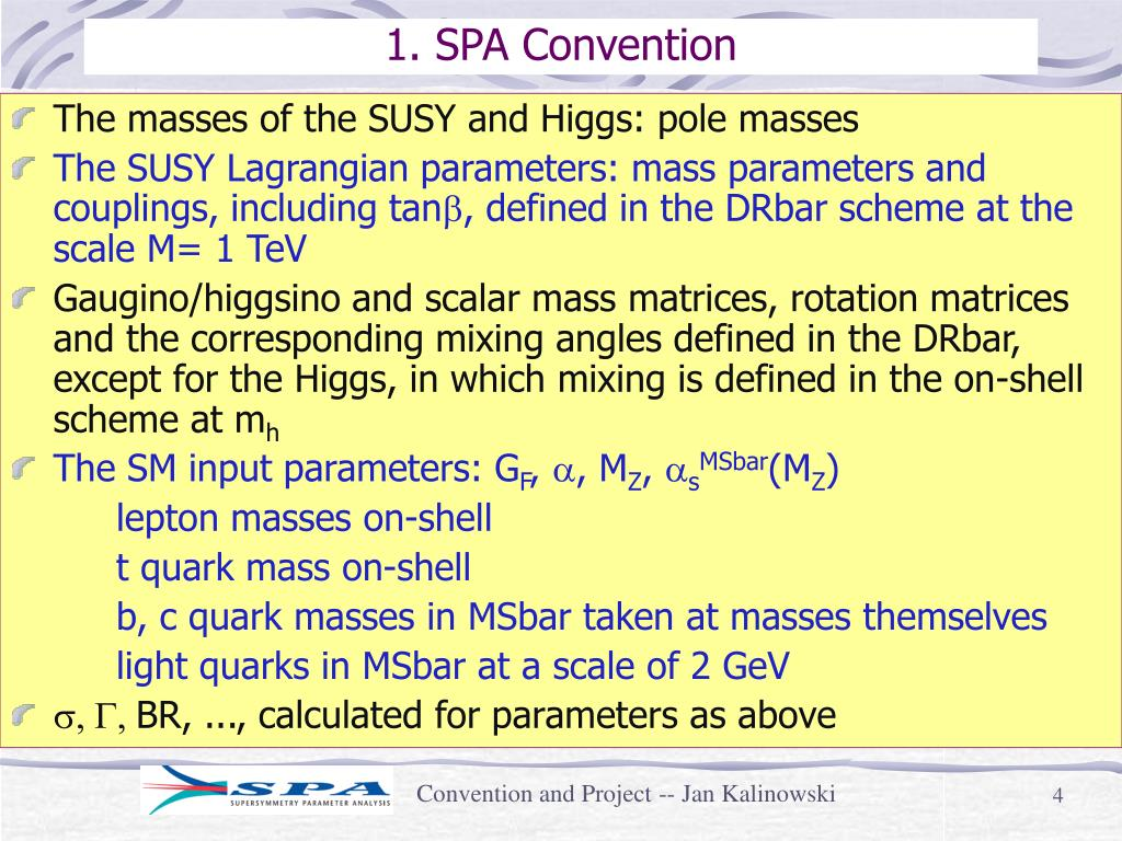 1. SPA Convention