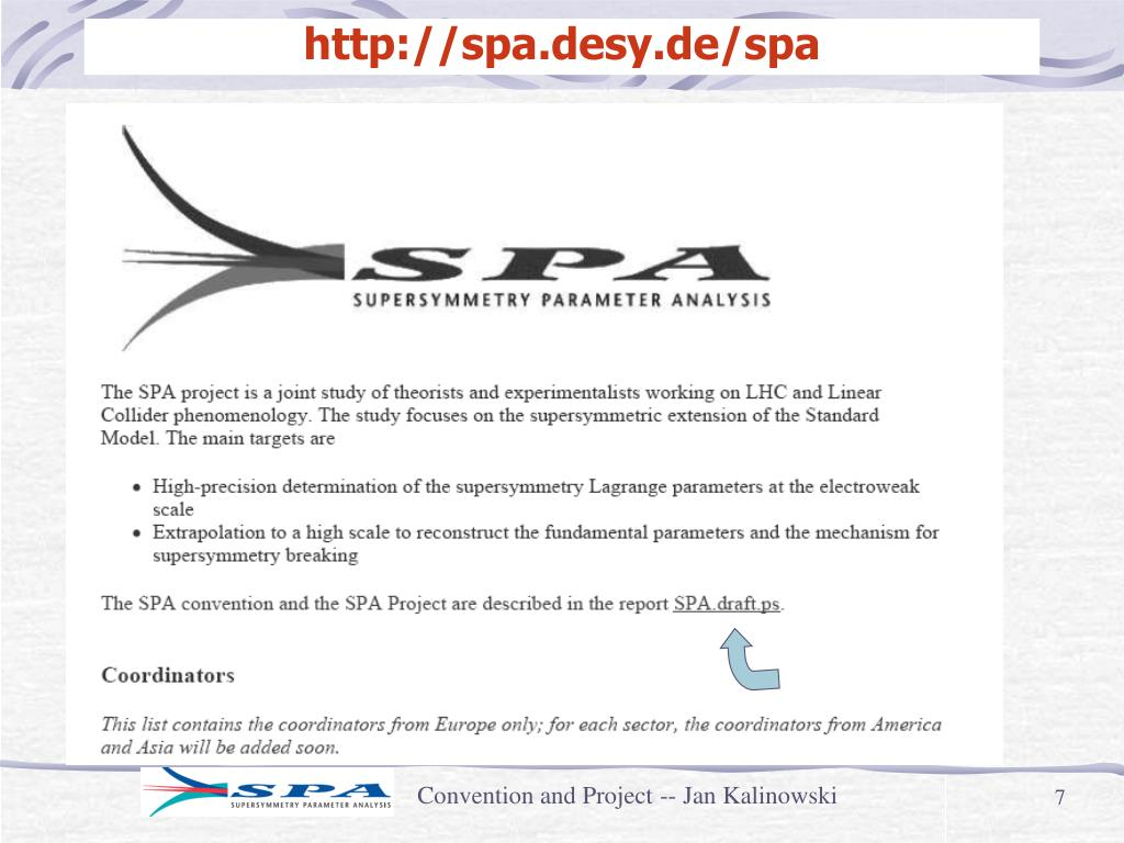 http://spa.desy.de/spa