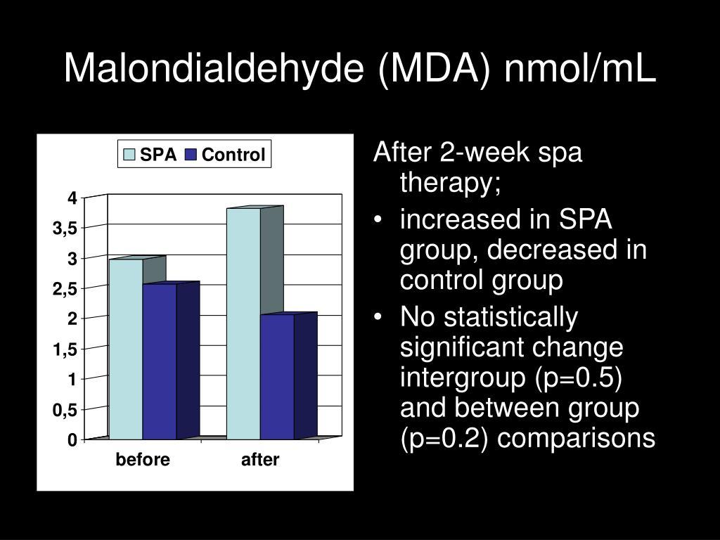 Malondialdehyde (MDA) nmol/mL