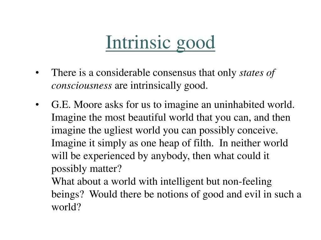 Intrinsic good