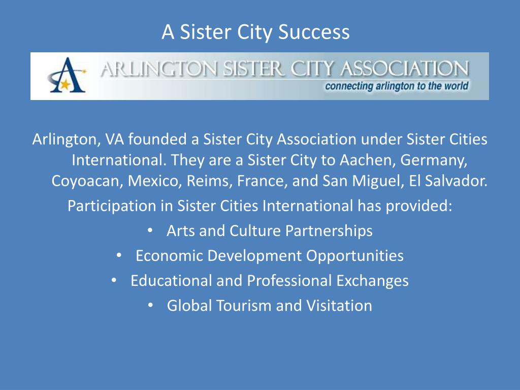 A Sister City Success