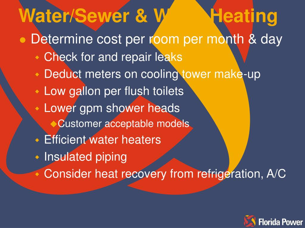 Water/Sewer & Water Heating