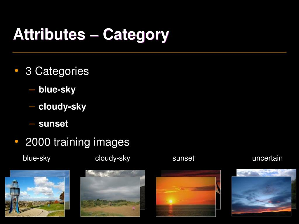 Attributes – Category