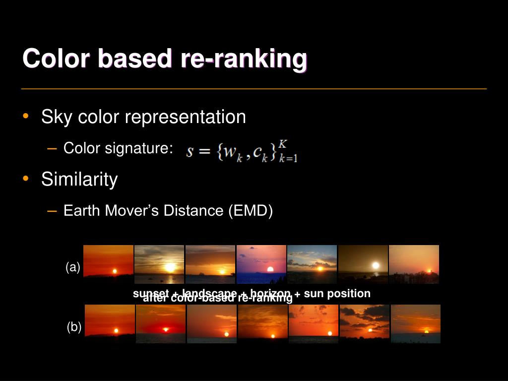 Color based re-ranking
