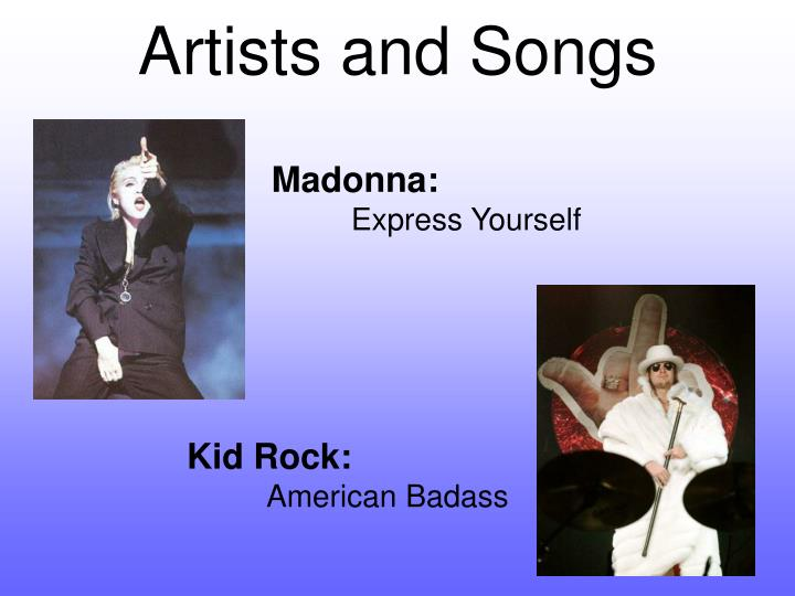 Artists and Songs