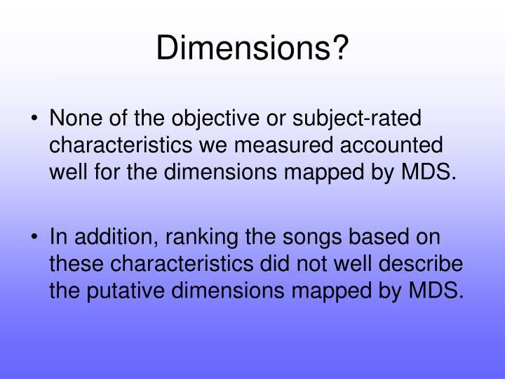 Dimensions?