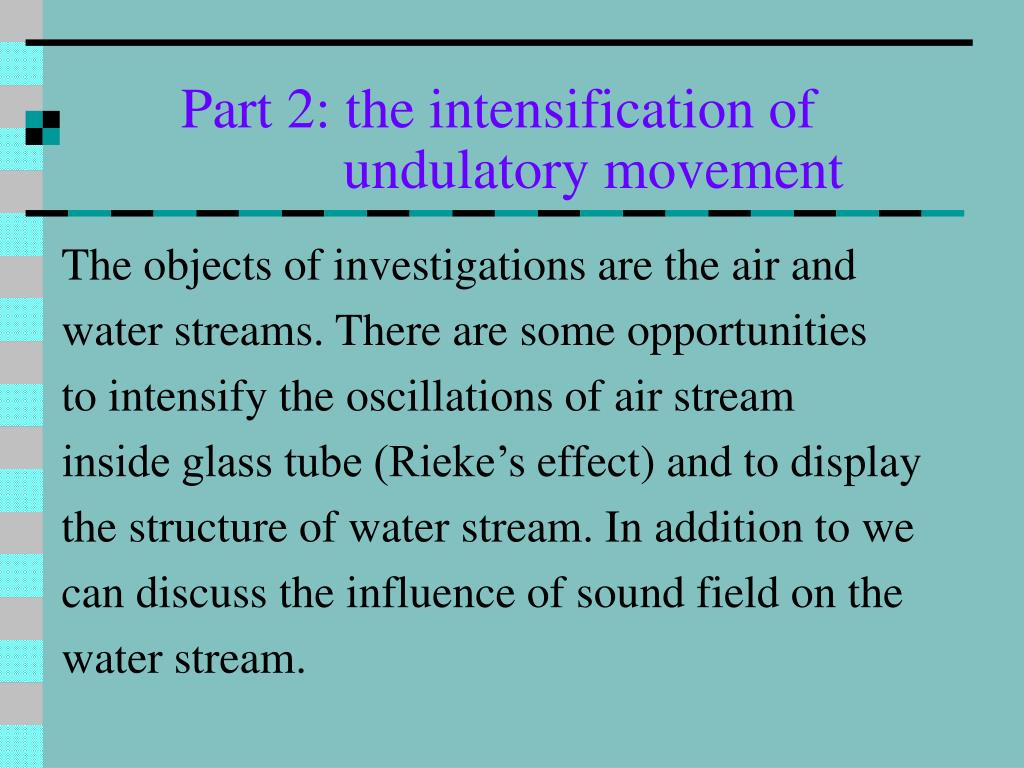 Part 2: the intensification of