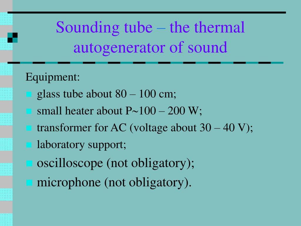 Sounding tube
