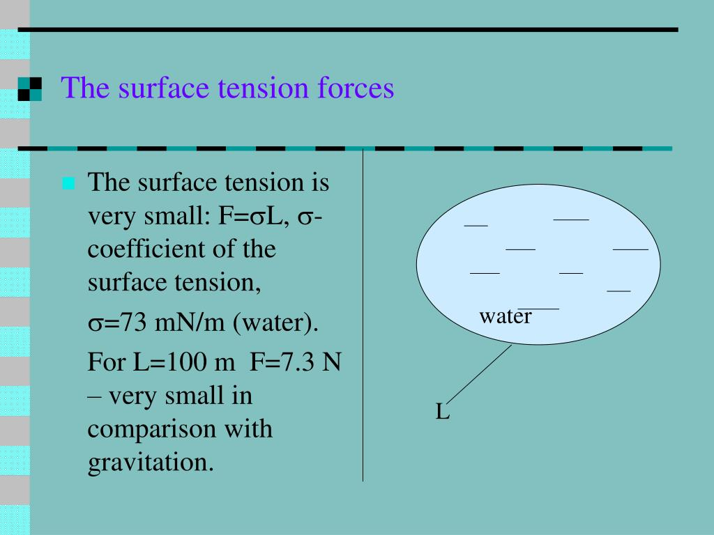 The surface tension forces