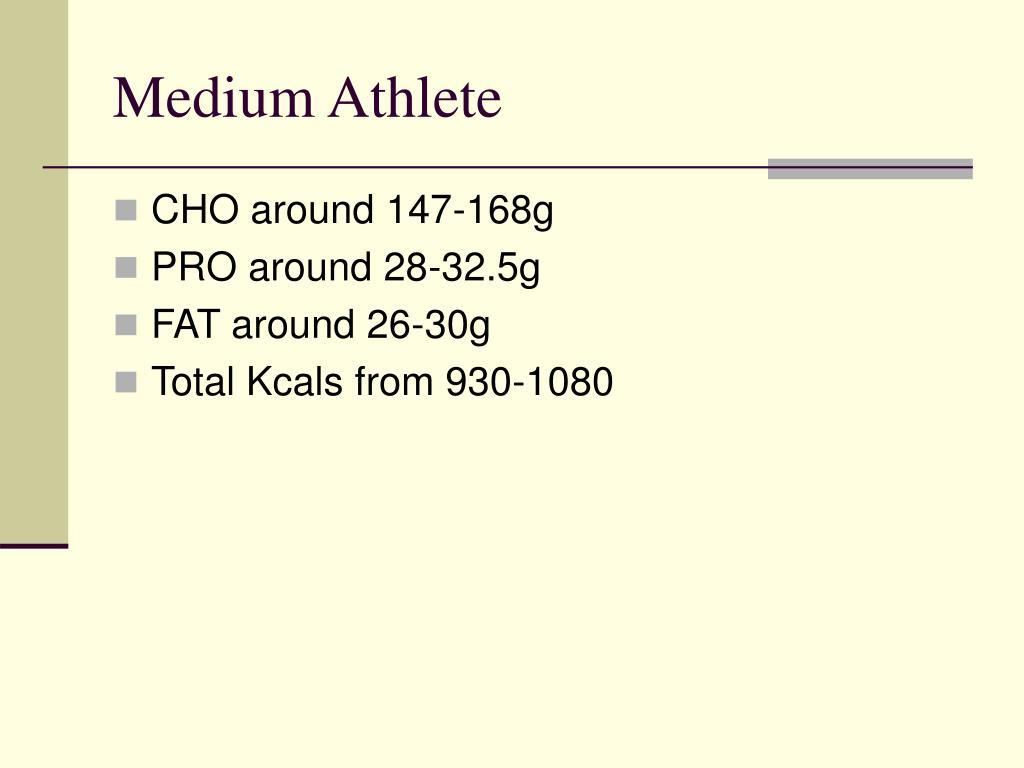Medium Athlete