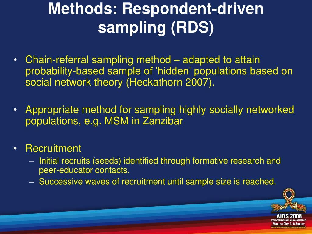 Methods: Respondent-driven sampling (RDS)