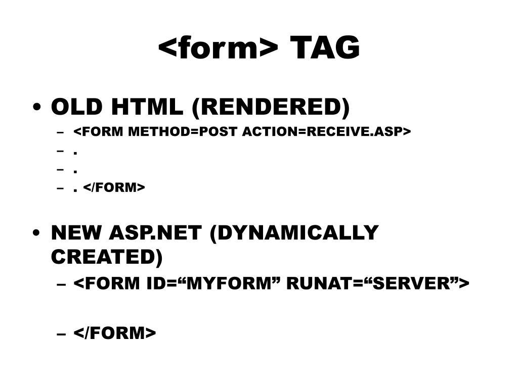 <form> TAG