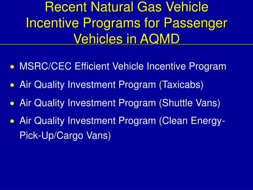 Recent Natural Gas Vehicle