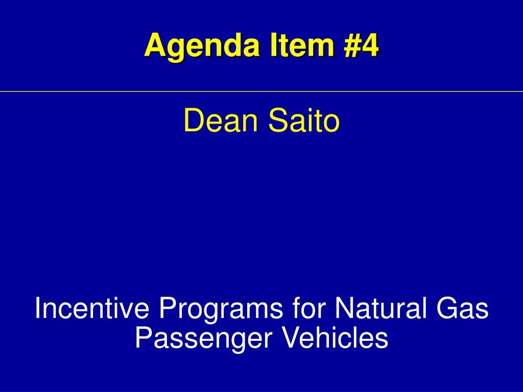 Agenda Item #4