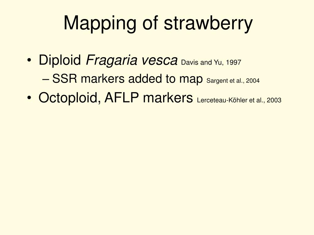 Mapping of strawberry