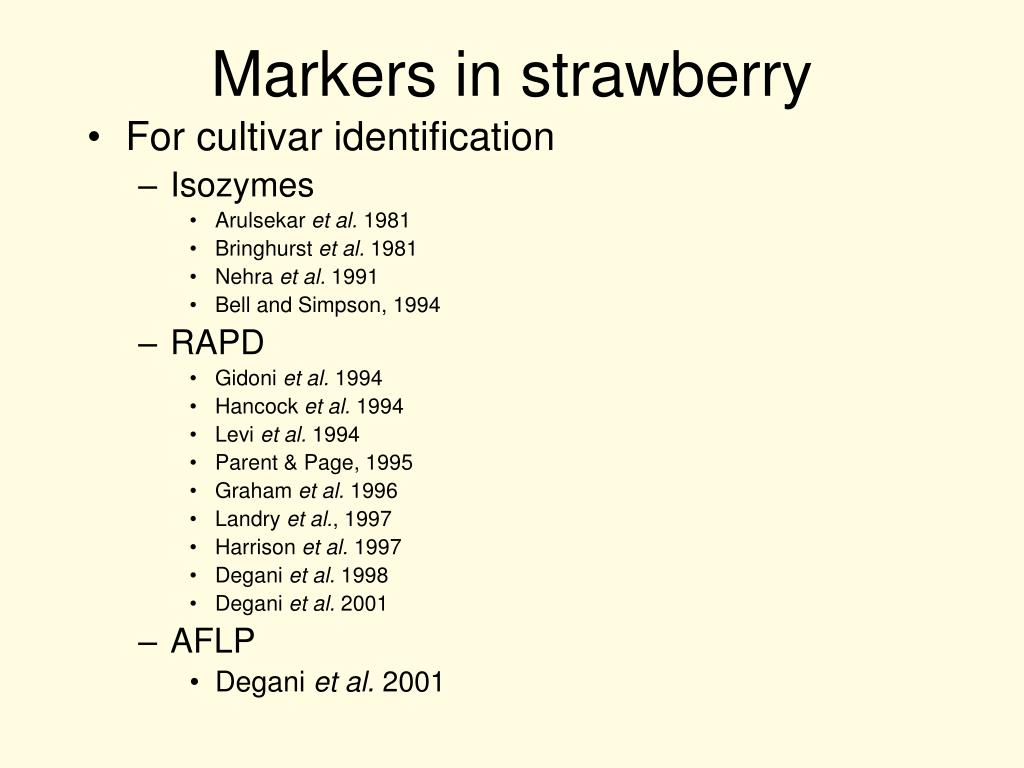 Markers in strawberry