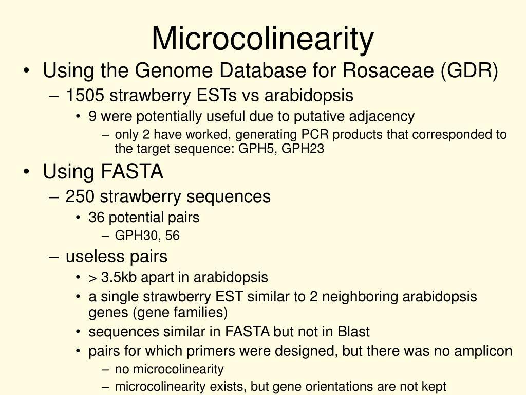 Microcolinearity