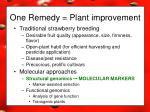 one remedy plant improvement5